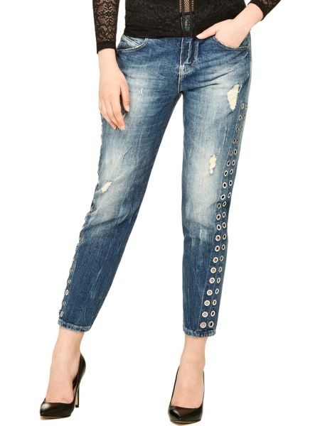 Jeans Borchie Laterali