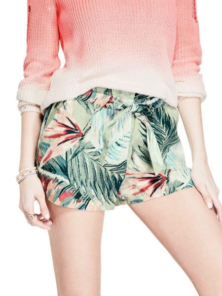 Imagen principal de producto de Shorts Lino Estampado Natural - Guess