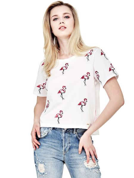 T-Shirt Motivo Fenicotteri