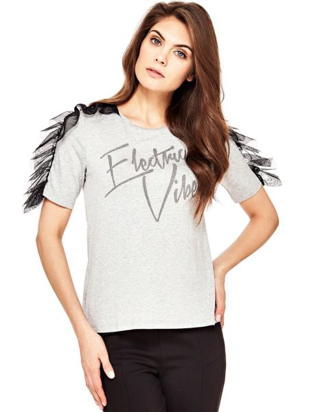 T-Shirt Dettagli Tulle