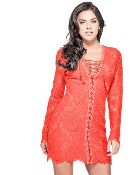 Imagen principal de producto de Vestido Encaje Detalle Corsé - Guess