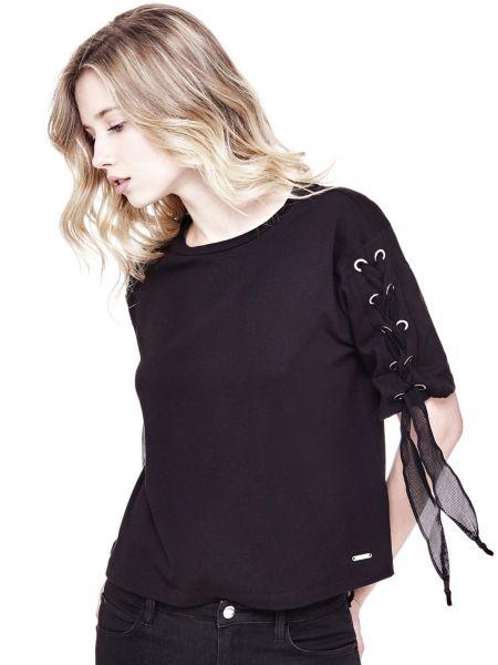 T-Shirt Dettagli Corsetto