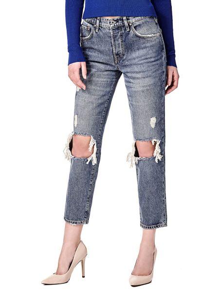Jeans Vita Alta Strappi