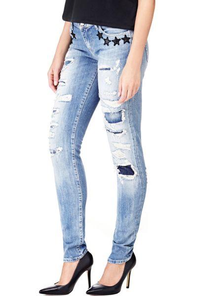 Jeans Applicazioni Stelle Strappi