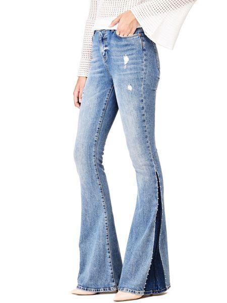 Jeans A Zampa Colore A Contrasto