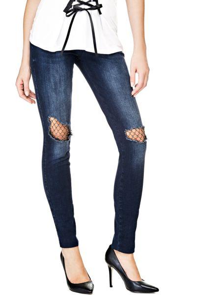 Jeans Dettagli Maglia A Rete