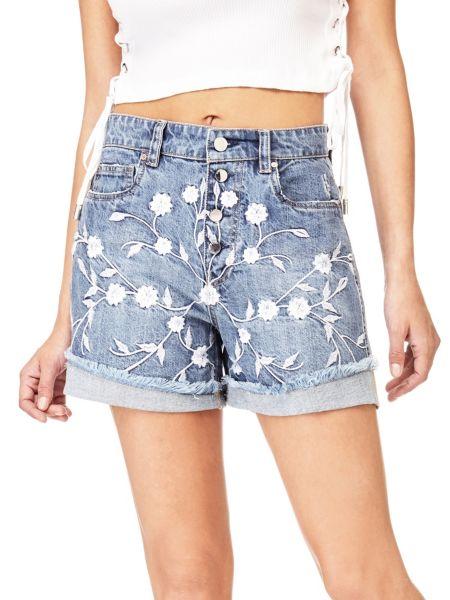 Imagen principal de producto de Shorts Vaqueros Bordados Florales - Guess