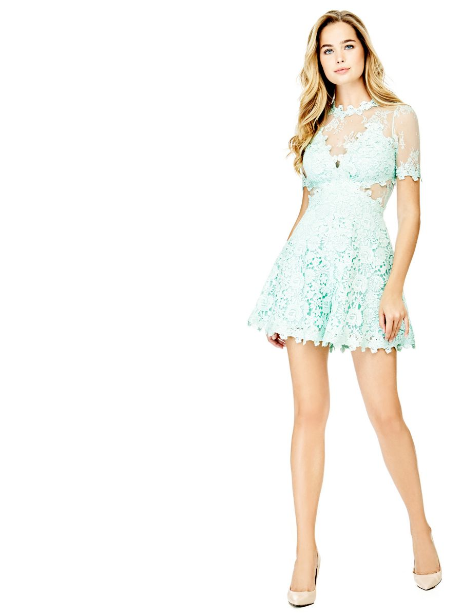 Guess Guess Lace Jumpsuit Transparent Details At 95 Love