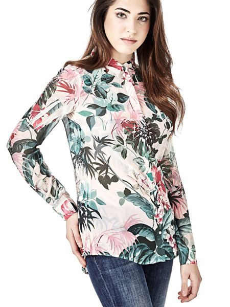 Bluse Naturprint Spitze - Guess