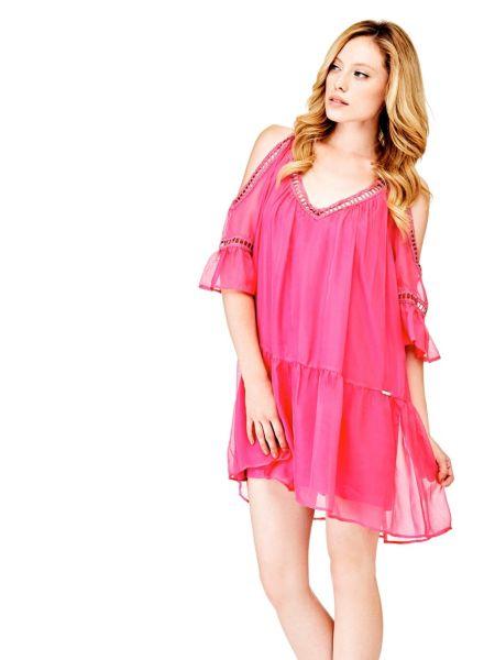 Imagen principal de producto de Vestido Seda Bordados - Guess