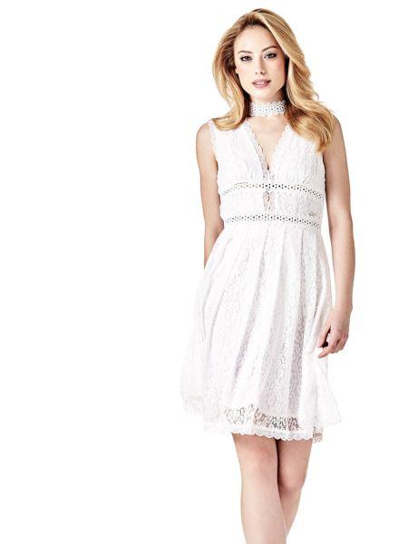 Imagen principal de producto de Vestido Escote En T Encaje - Guess