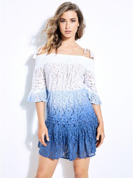 Imagen principal de producto de Vestido Escote Barco Encaje - Guess