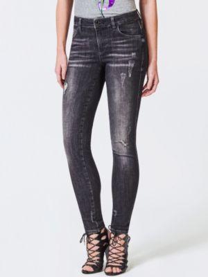 Jeans Skinny Dettagli Abrasioni