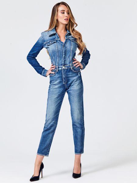 Jeans-Jumpsuit Oberteil Bluse - Guess