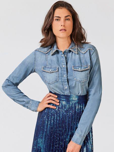 Imagen principal de producto de Camisa Denim Detalles Joya - Guess