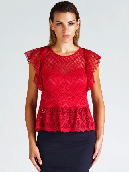 Imagen principal de producto de Top Camiseta Superpuesta Encaje - Guess