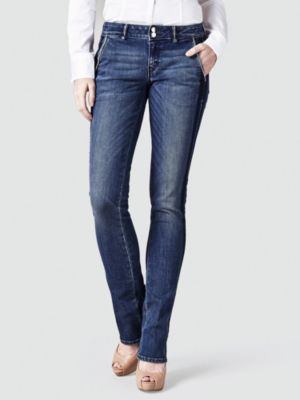 Jeans A Zampa Strass Laterali