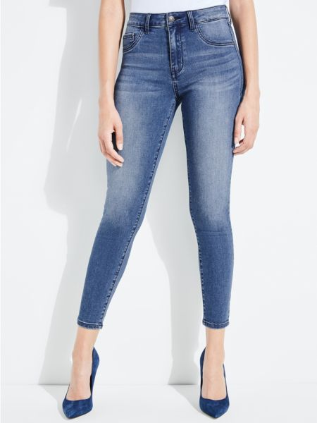 5-Pocket-Jeans Skinny | Bekleidung > Jeans > 5-Pocket-Jeans | Blau | Jeans - Baumwolle - Polyester - Viskose | Guess