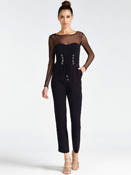 Jumpsuit Korsettdetail | Bekleidung > Homewear > Jumpsuits | Schwarz | Polyester - Viskose | Guess