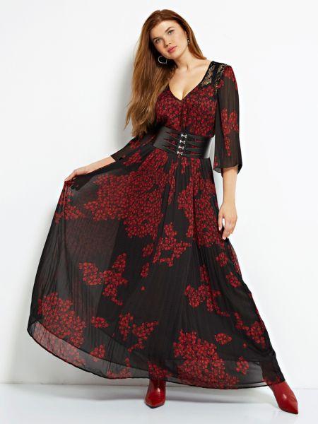 Imagen principal de producto de Vestido Largo Estampado Flores - Guess