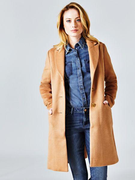 Klassischer Mantel | Bekleidung > Mäntel > Sonstige Mäntel | Braun | Wolle | Guess
