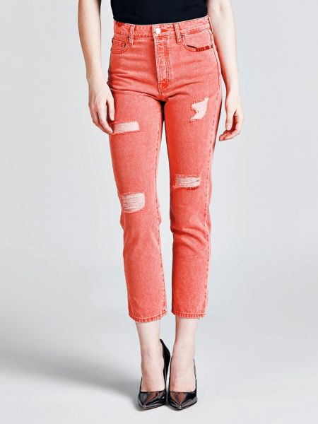5-Pocket-Jeans Abriebstellen | Bekleidung > Jeans > 5-Pocket-Jeans | Rose | Jeans | Guess