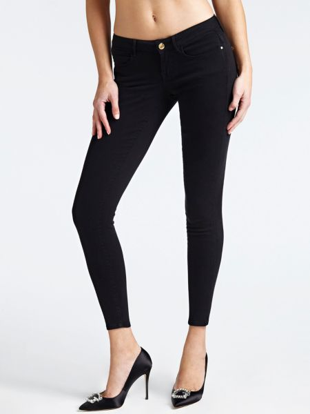 Jeggings Skinny | Bekleidung > Jeans > Jeggings | Schwarz | Jeans - Baumwolle - Polyester | Guess