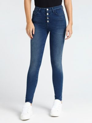 Jeans Modello 5 Tasche Bottoni