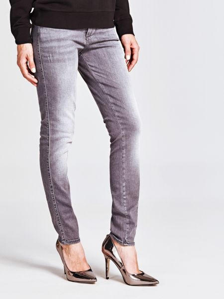 5-Pocket-Jeans Skinny | Bekleidung > Jeans > 5-Pocket-Jeans | Hellgrau | Jeans - Baumwolle - Polyester | Guess