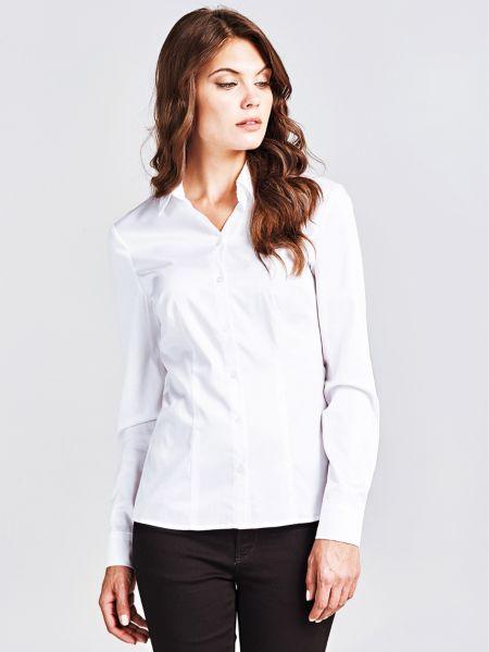 Klassische Bluse   Bekleidung > Blusen > Klassische Blusen   Weiß   Baumwolle   Guess