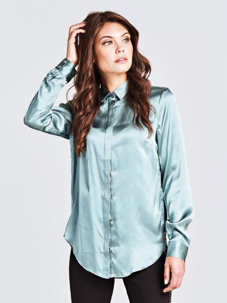 Klassische Bluse Seide | Bekleidung > Blusen > Klassische Blusen | Himmelblau | Guess