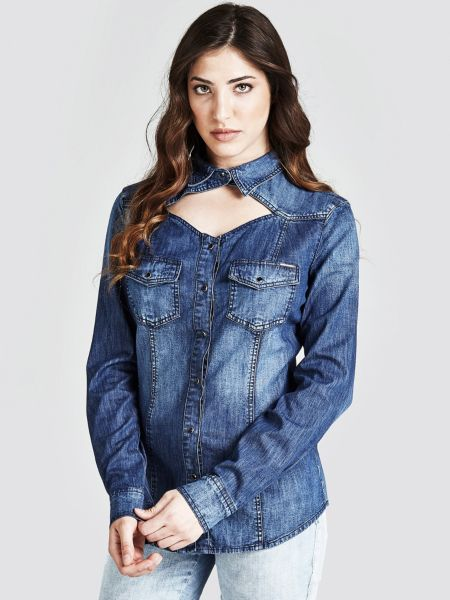 Jeansbluse Cut-Out - Guess