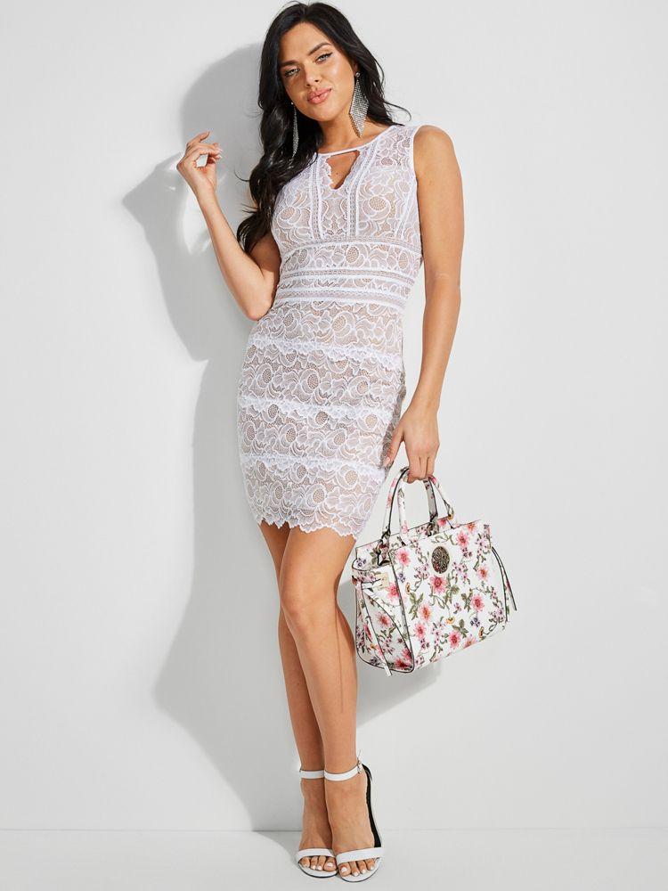 Guess Transparent Lace Dress Ricciano United Kingdom