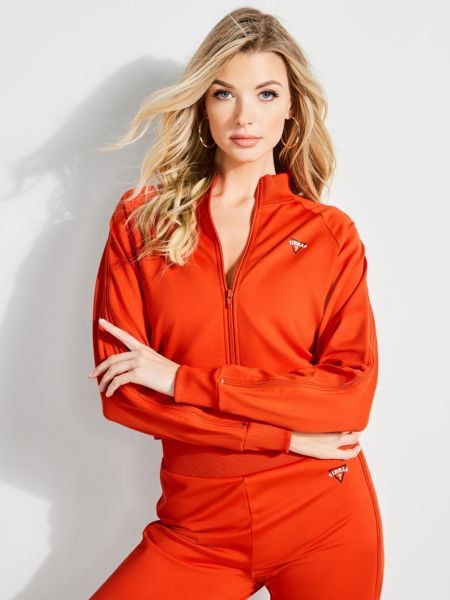 Sweatjacke Jbalvin Reissverschluss-Detail | Bekleidung > Sweatshirts & -jacken > Sweatjacken | Rot/merf. | Baumwolle | Guess