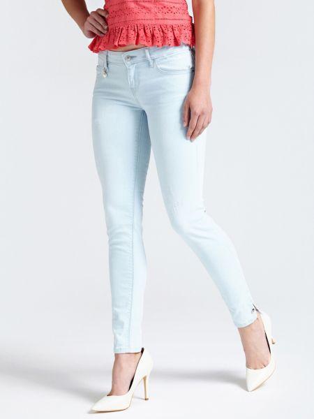 5-Pocket-Jeans Slim | Bekleidung > Jeans > 5-Pocket-Jeans | Himmelblau | Jeans - Baumwolle - Polyester | Guess