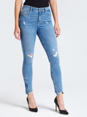 Jeans Denim Skinny Abrasioni