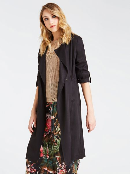 Guess - Classic Tie-Front Trench - 1