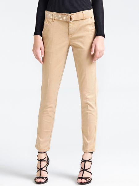 Chinohose Gürtel Nieten | Bekleidung > Hosen > Chinohosen | Beige | Lycra - Baumwolle | Guess
