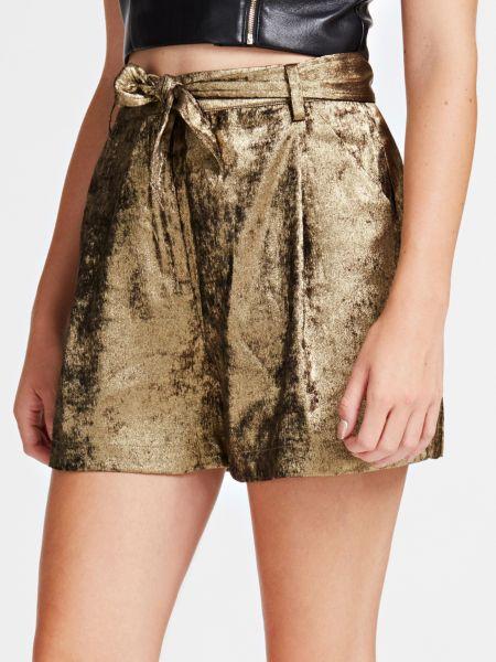 Shorts Veloursoptik   Bekleidung > Hosen > Shorts & Bermudas   Mehrfarbig goldenfarbe   Guess
