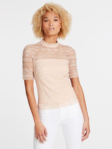 Spitzenshirt   Bekleidung > Shirts > Spitzenshirts   Creme   Polyamid   Guess