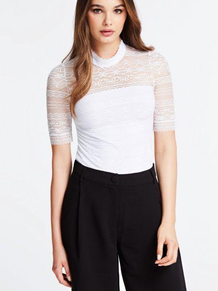 Spitzenshirt   Bekleidung > Shirts > Spitzenshirts   Weiß   Polyamid   Guess