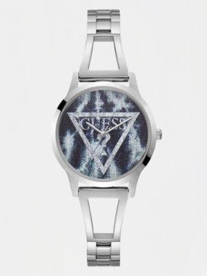 Orologio Acciaio Triangolo Logo