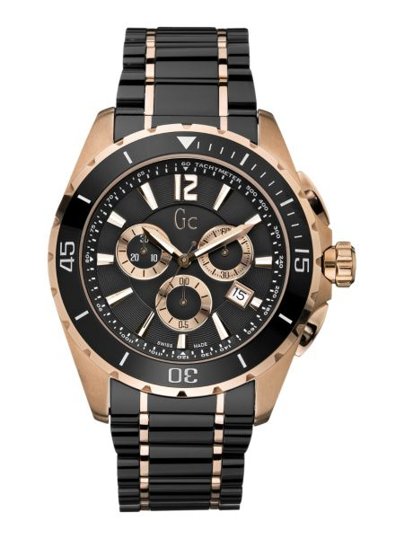 #Gc Sport Class Xxl Black Ceramic Watch#