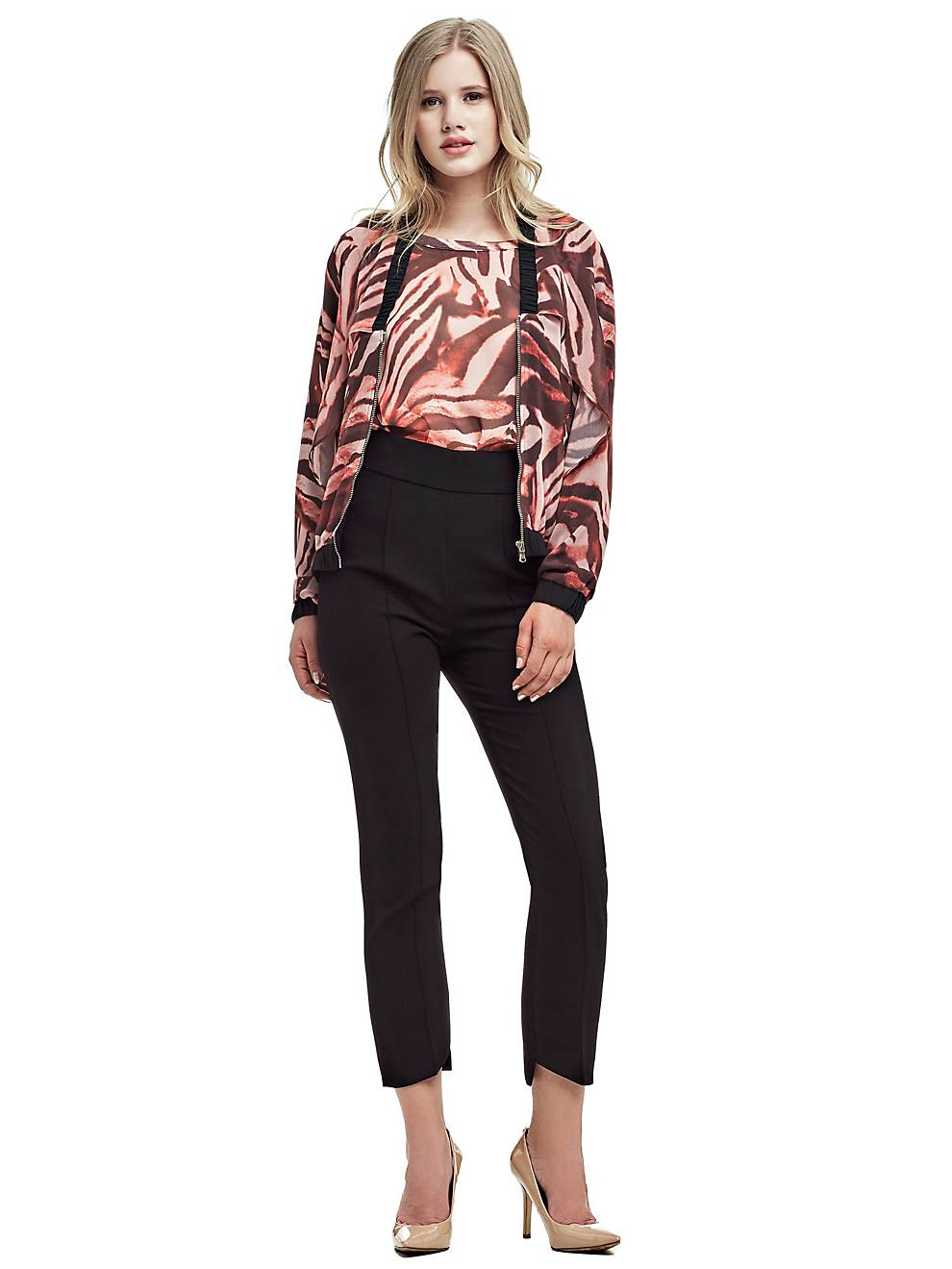 55a2cd8af2a MARCIANO WING SLEEVES FLOUNCE TOP