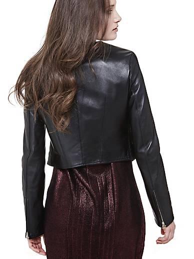 Veste marciano en cuir veritable en 2019 | GUESS Boutique
