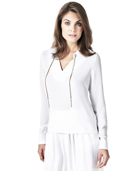 Top marciano lacets