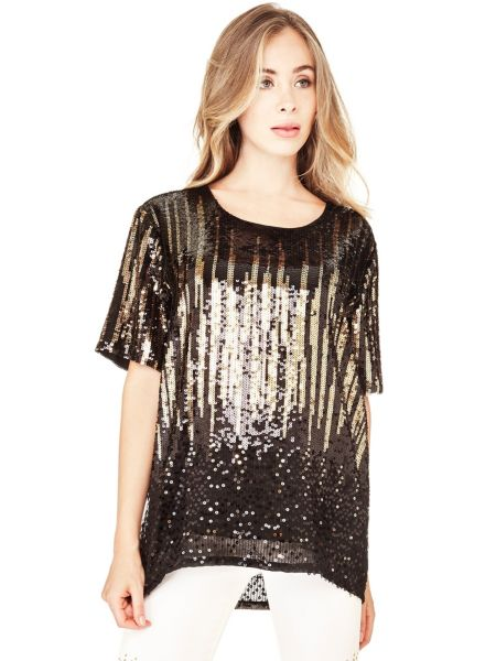 T shirt marciano paillettes