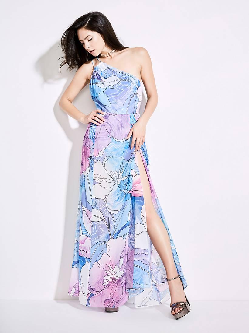 7e06f5856f MARCIANO LONG FLORAL DRESS | GUESS.eu