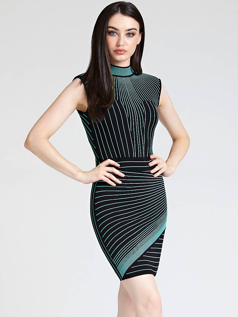 hot sale online 0fb5d 4ddb8 MARCIANO STRIPE MOTIF DRESS | GUESS.eu