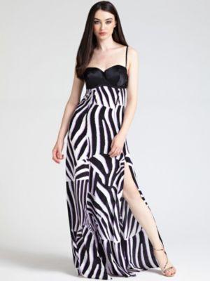Vestidos largos estampados con abertura